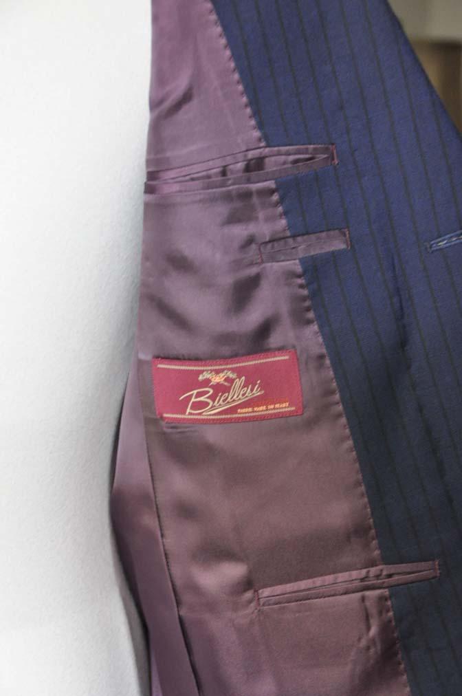 DSC0548-1 お客様のスーツの紹介- Biellesi ネイビーストライプ-