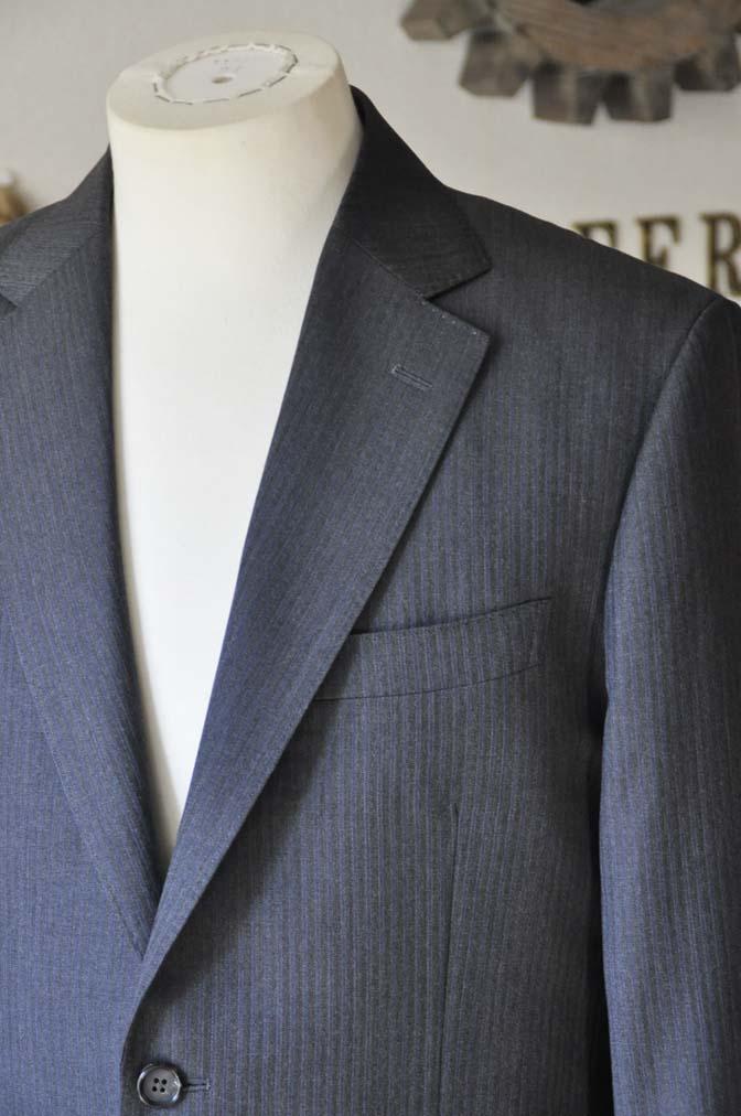DSC0549-3 お客様のスーツの紹介-Biellesiグレーヘリンボーンスーツ- 名古屋の完全予約制オーダースーツ専門店DEFFERT