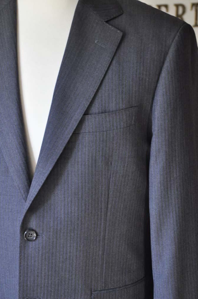 DSC0551-3 お客様のスーツの紹介-Biellesiグレーヘリンボーンスーツ-