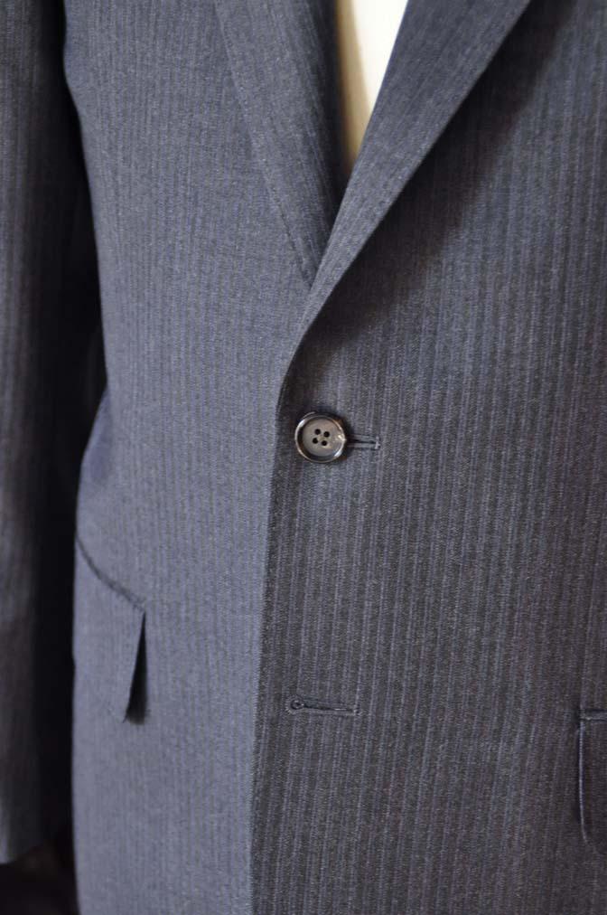 DSC0552-2 お客様のスーツの紹介-Biellesiグレーヘリンボーンスーツ-