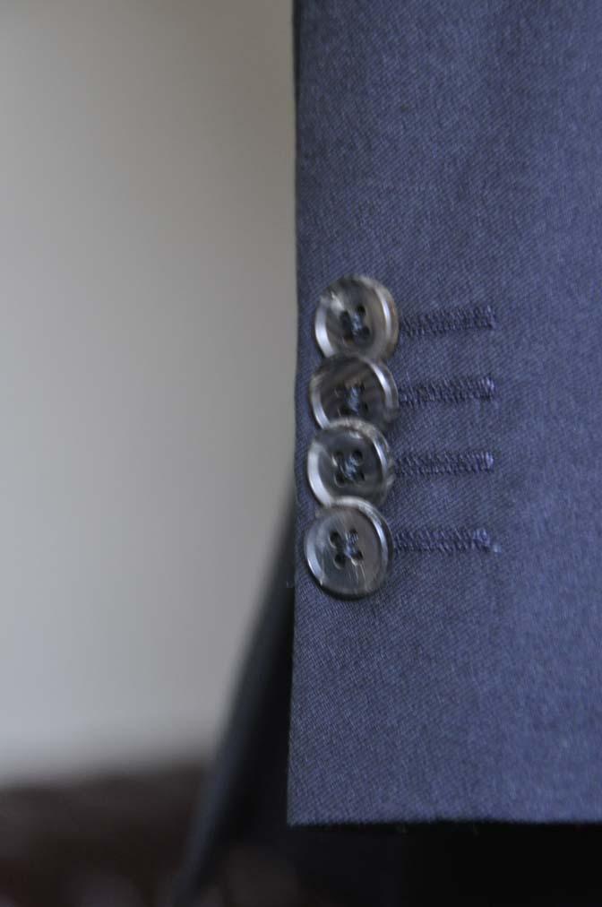 DSC0553-2 お客様のスーツの紹介- CANONICO 無地ネイビースリーピース-