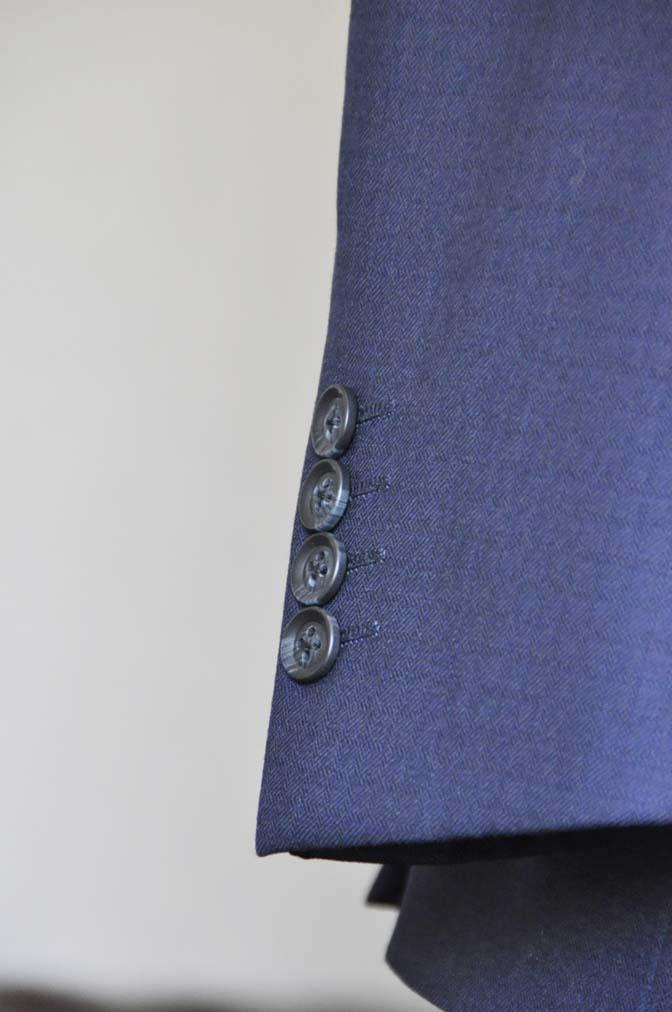 DSC0556-2 お客様のスーツの紹介-ネイビーチェックスリーピース-