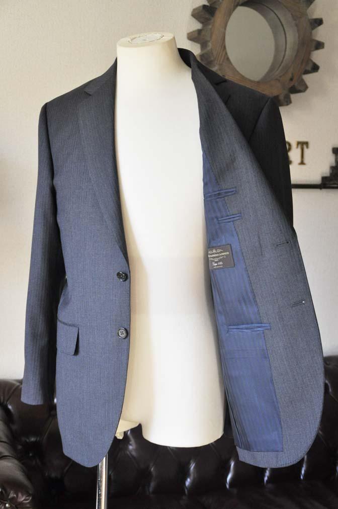 DSC0556-3 お客様のスーツの紹介-Biellesiグレーヘリンボーンスーツ-