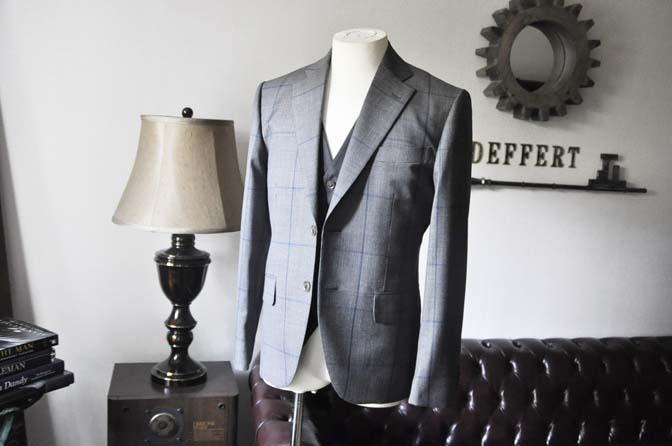 DSC0557-5 お客様のウエディング衣装の紹介-Biellesi グレンチェックジャケット バーズアイベスト・パンツ-