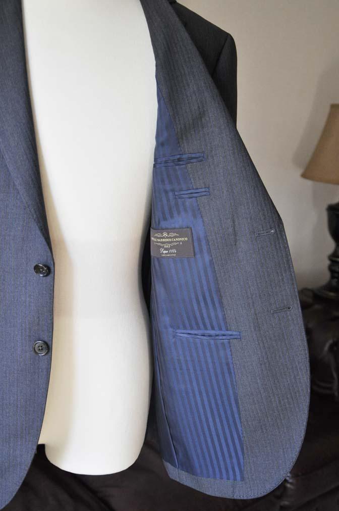 DSC0557-6 お客様のスーツの紹介-Biellesiグレーヘリンボーンスーツ- 名古屋の完全予約制オーダースーツ専門店DEFFERT