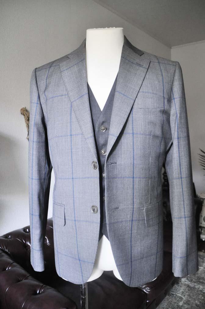 DSC0559-2 お客様のウエディング衣装の紹介-Biellesi グレンチェックジャケット バーズアイベスト・パンツ-