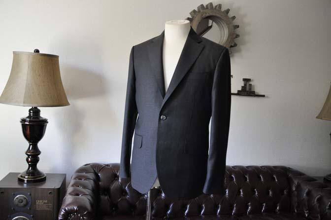 DSC0562-1 お客様のスーツの紹介- Canonico チャコールグレースーツ-