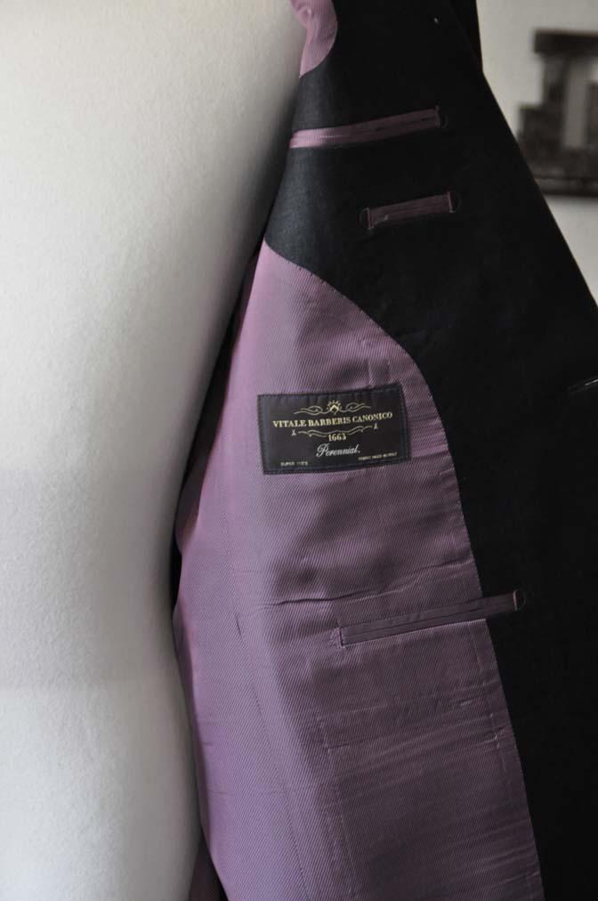 DSC0565-1 お客様のスーツの紹介- Canonico チャコールグレースーツ-