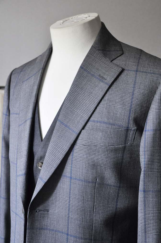 DSC0565-2 お客様のウエディング衣装の紹介-Biellesi グレンチェックジャケット バーズアイベスト・パンツ-