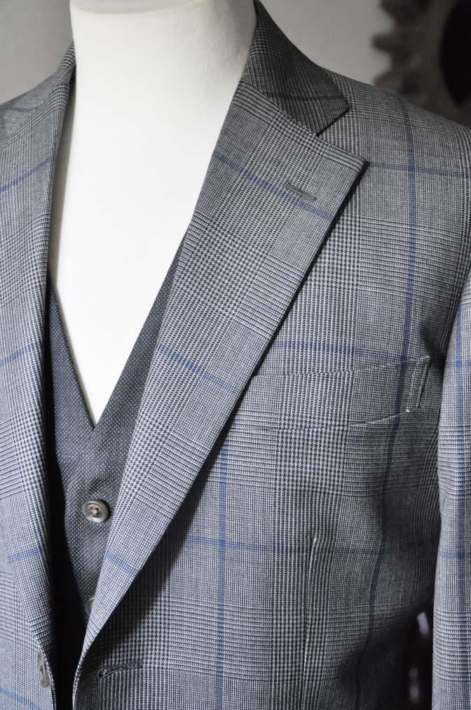 DSC0566-3 お客様のウエディング衣装の紹介-Biellesi グレンチェックジャケット バーズアイベスト・パンツ-