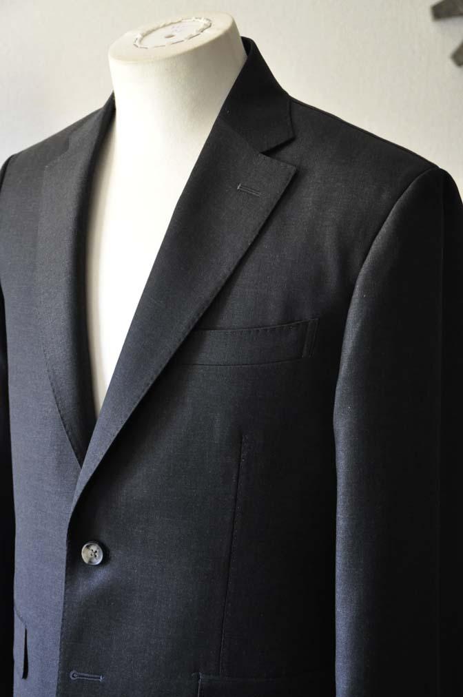 DSC0567-1 お客様のスーツの紹介- Canonico チャコールグレースーツ-