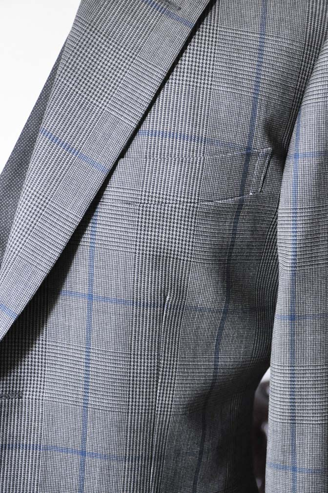 DSC0567-2 お客様のウエディング衣装の紹介-Biellesi グレンチェックジャケット バーズアイベスト・パンツ-