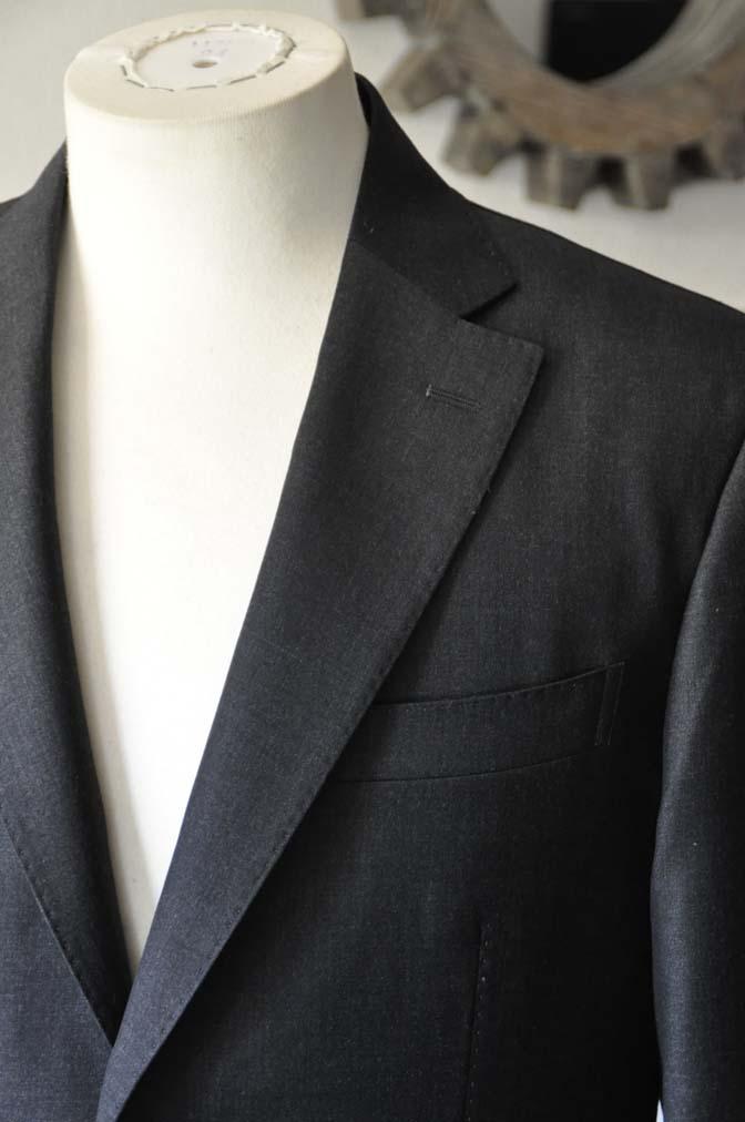 DSC0568-1 お客様のスーツの紹介- Canonico チャコールグレースーツ-