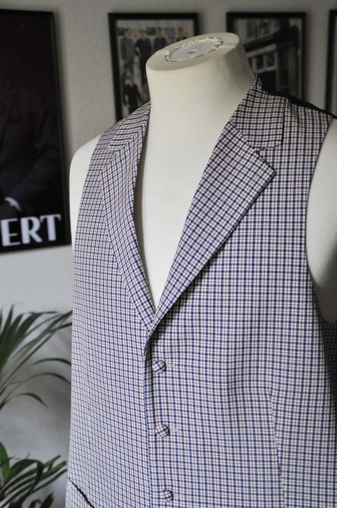 DSC0568 お客様のウエディング衣装の紹介-Biellesiネイビーヘリンボーン-