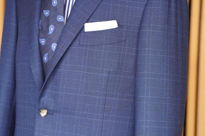 DSC05686 オーダースーツの紹介-Biellesiネイビーチェック スーツ-