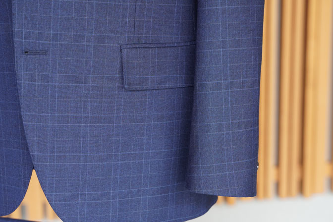 DSC05688 オーダースーツの紹介-Biellesiネイビーチェック スーツ-