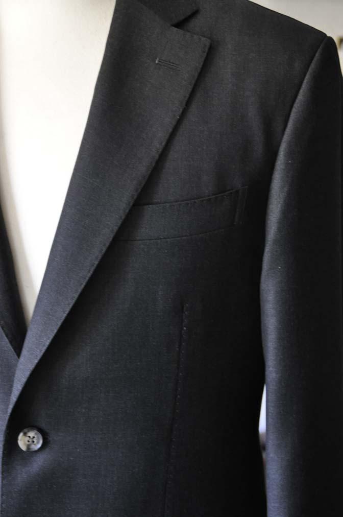 DSC0569-1 お客様のスーツの紹介- Canonico チャコールグレースーツ-