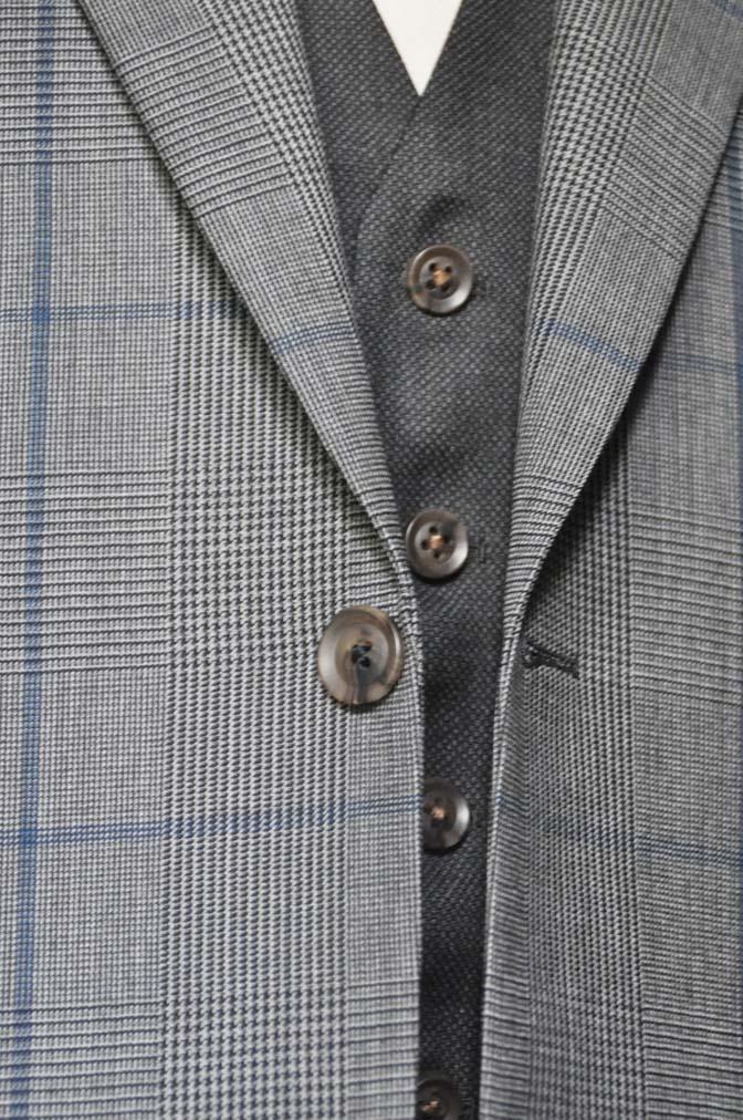 DSC0569-3 お客様のウエディング衣装の紹介-Biellesi グレンチェックジャケット バーズアイベスト・パンツ-