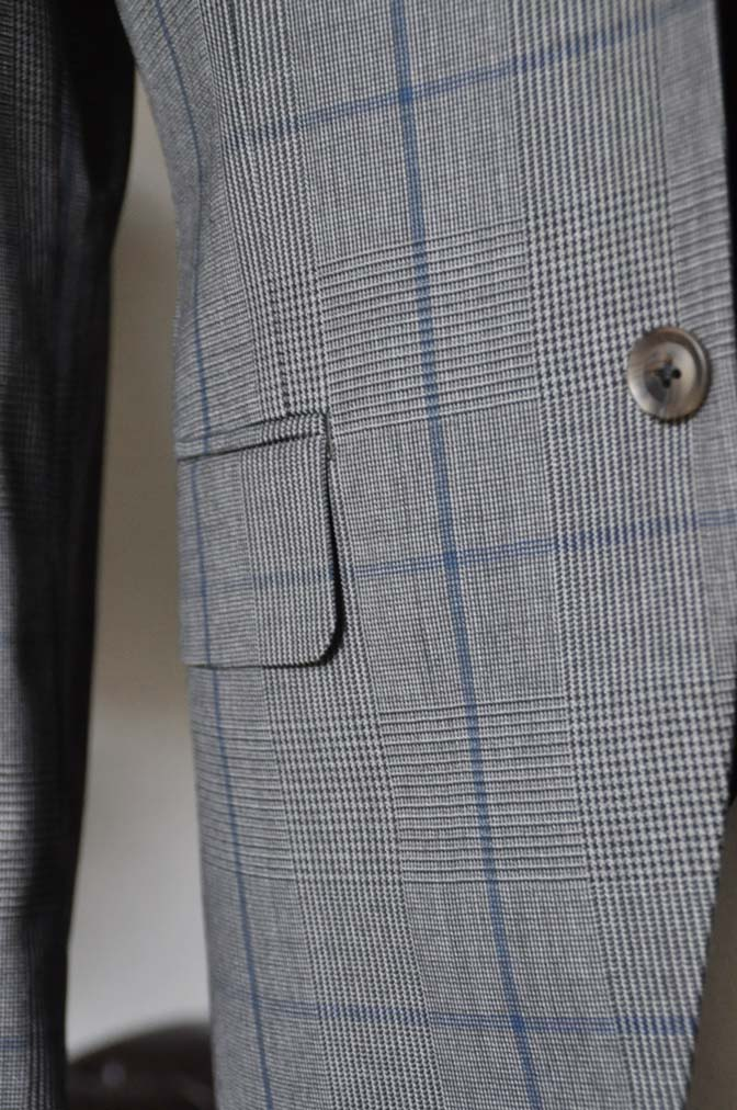 DSC0570-2 お客様のウエディング衣装の紹介-Biellesi グレンチェックジャケット バーズアイベスト・パンツ-