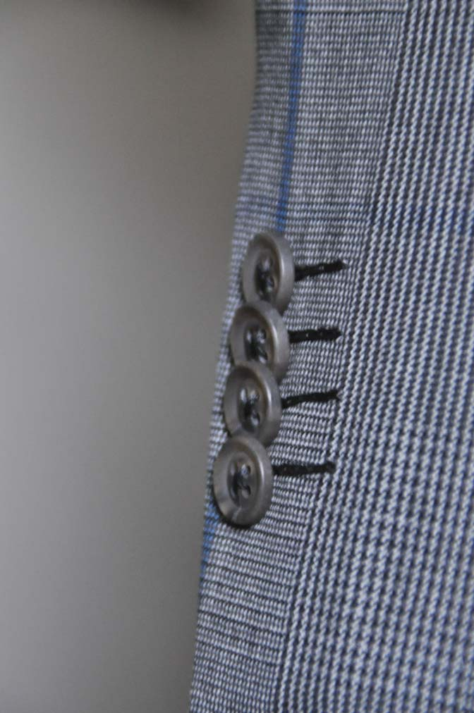 DSC0573-5 お客様のウエディング衣装の紹介-Biellesi グレンチェックジャケット バーズアイベスト・パンツ-