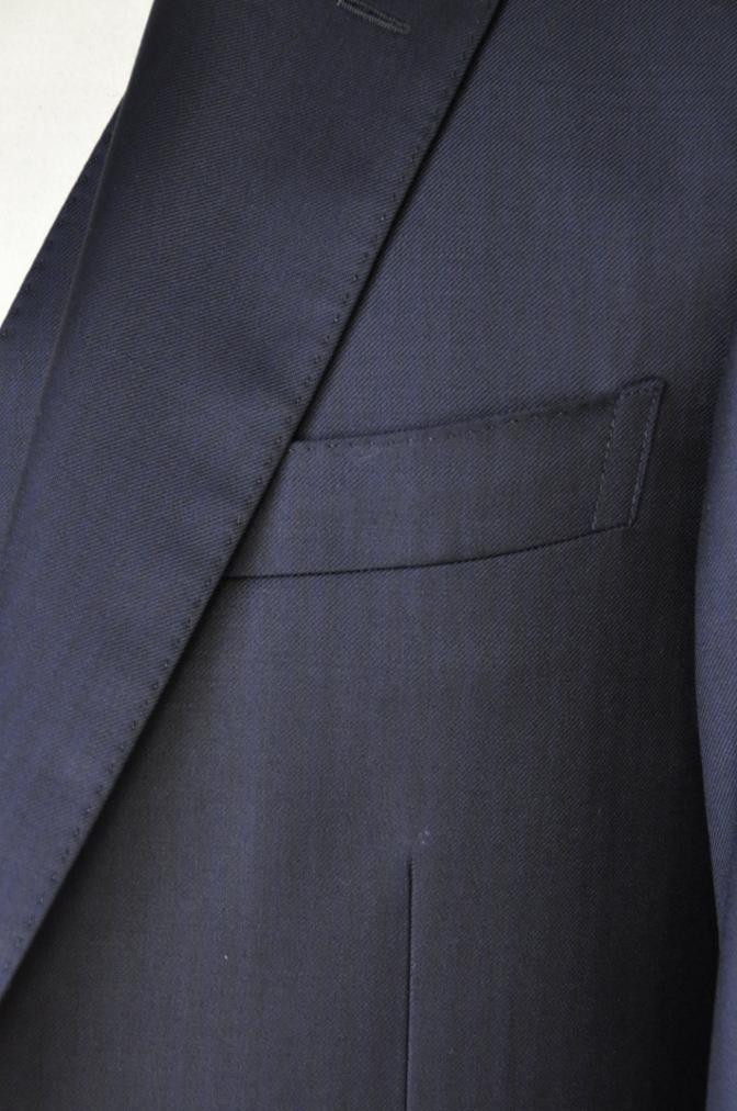DSC05821 お客様のスーツの紹介-Pianceri 無地ネイビー スリーピース- 名古屋の完全予約制オーダースーツ専門店DEFFERT