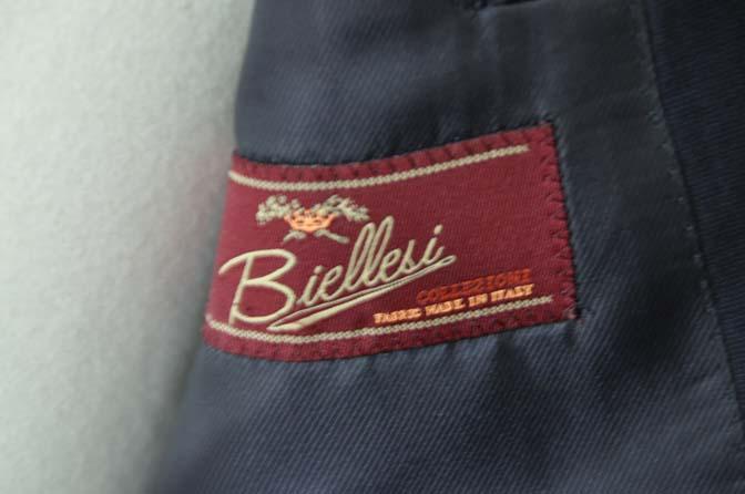 DSC05852 お客様のスーツの紹介-Biellesi 無地ネイビースーツ-