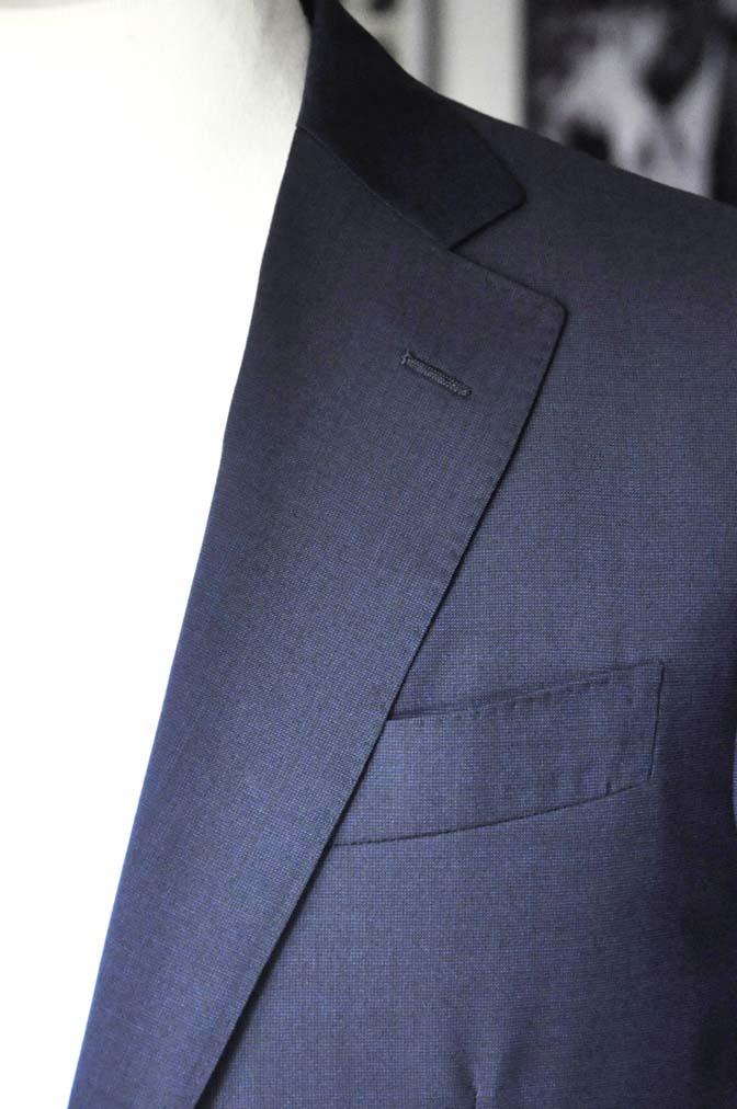DSC05872 お客様のスーツの紹介-Biellesi 無地ネイビースーツ-