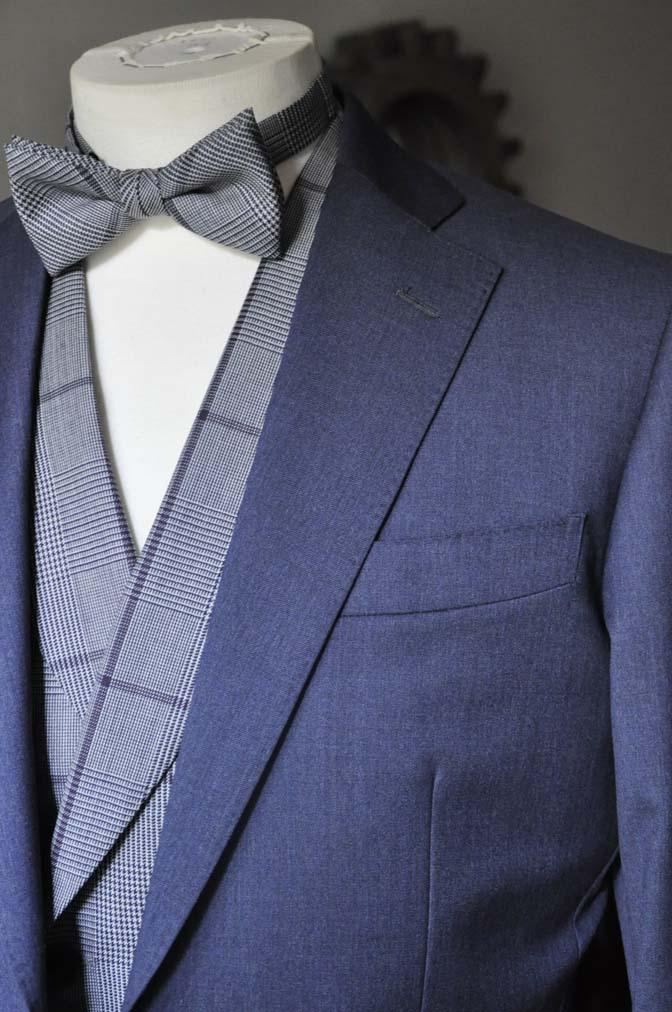 DSC0588-2 お客様のウエディング衣装の紹介-Biellesi ネイビースーツ グレーチェックベスト-