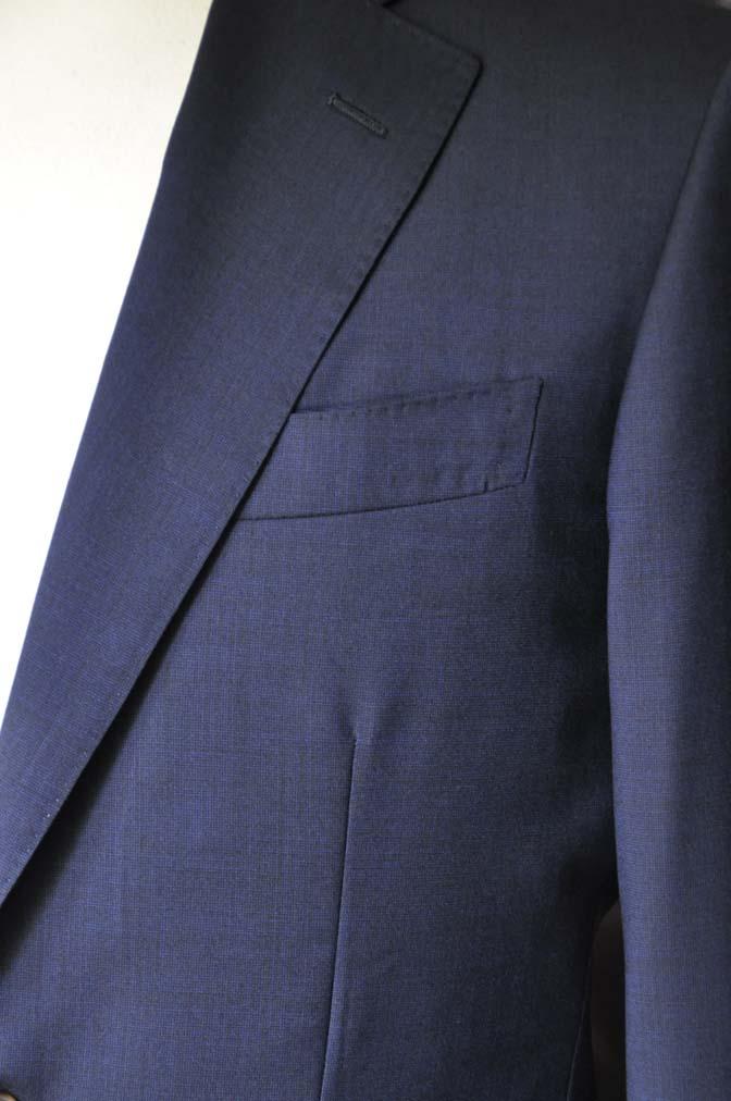DSC05881 お客様のスーツの紹介-Biellesi 無地ネイビースーツ-