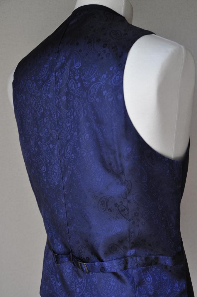 DSC05903 お客様のスーツの紹介-Pianceri 無地ネイビー スリーピース- 名古屋の完全予約制オーダースーツ専門店DEFFERT