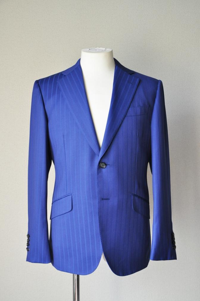 DSC05932 お客様のスーツの紹介-BIELLESI ブライトネイビーストライプ-