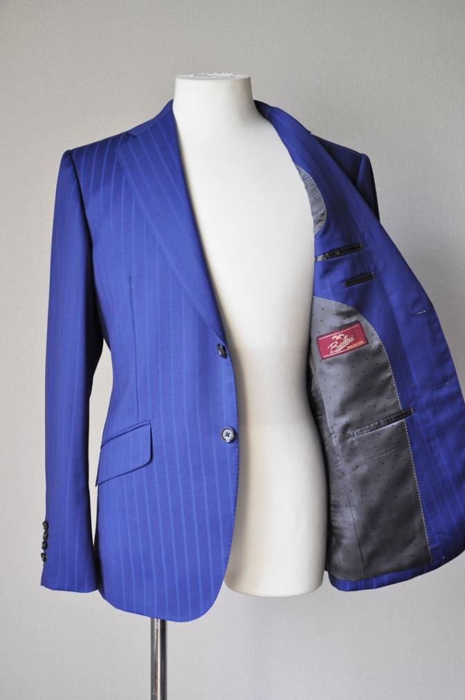 DSC05942 お客様のスーツの紹介-BIELLESI ブライトネイビーストライプ-