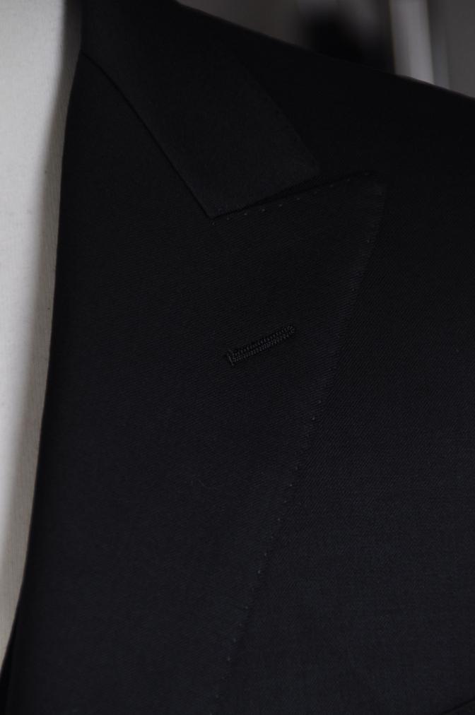 DSC05951 オーダースーツ -BIELLESI ブラック スリーピース- 名古屋の完全予約制オーダースーツ専門店DEFFERT
