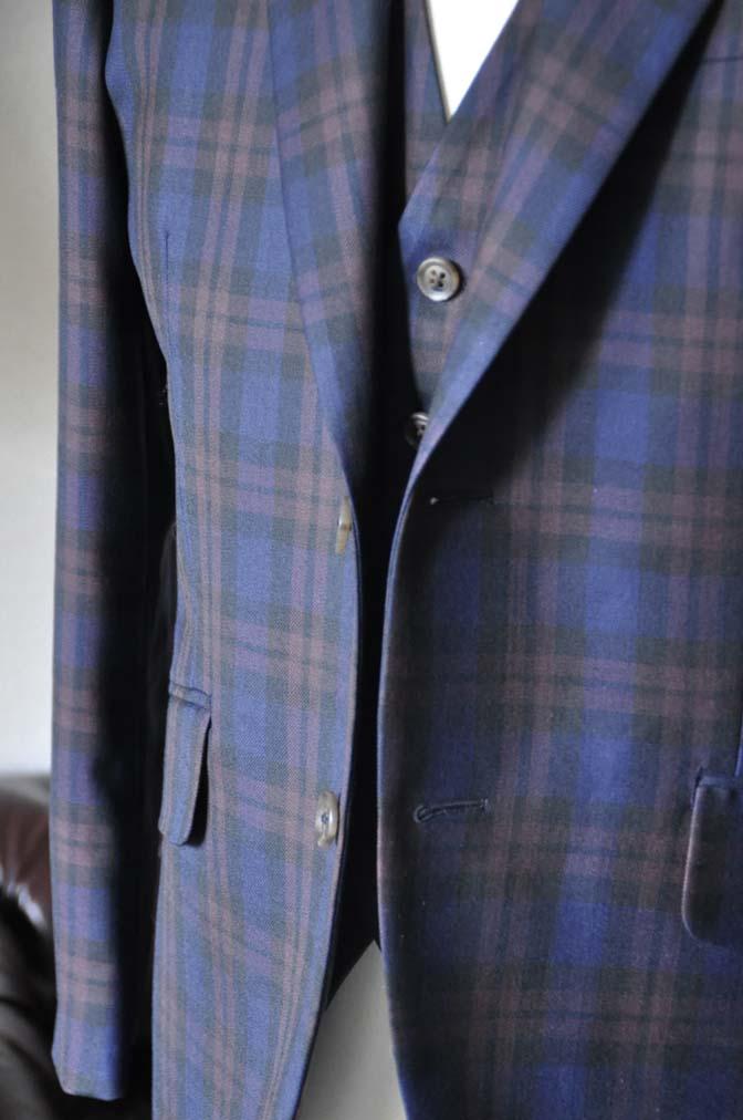 DSC0596-3 お客様のウエディング衣装の紹介- DARROWDALEネイビーチェック スリーピース-DSC0596-3 お客様のウエディング衣装の紹介- DARROWDALEネイビーチェック スリーピース- 名古屋市のオーダータキシードはSTAIRSへ