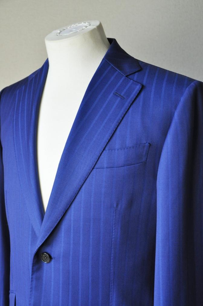 DSC05972 お客様のスーツの紹介-BIELLESI ブライトネイビーストライプ-