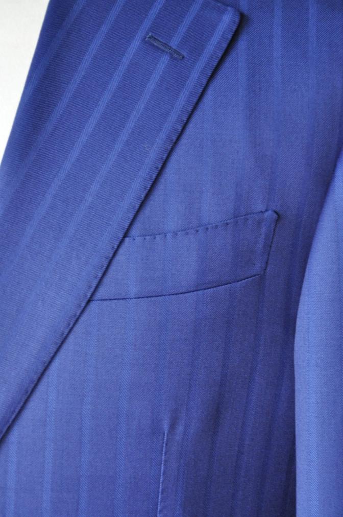 DSC05991 お客様のスーツの紹介-BIELLESI ブライトネイビーストライプ-