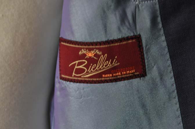 DSC06013 お客様のスーツの紹介-Biellesi ネイビースーツ-