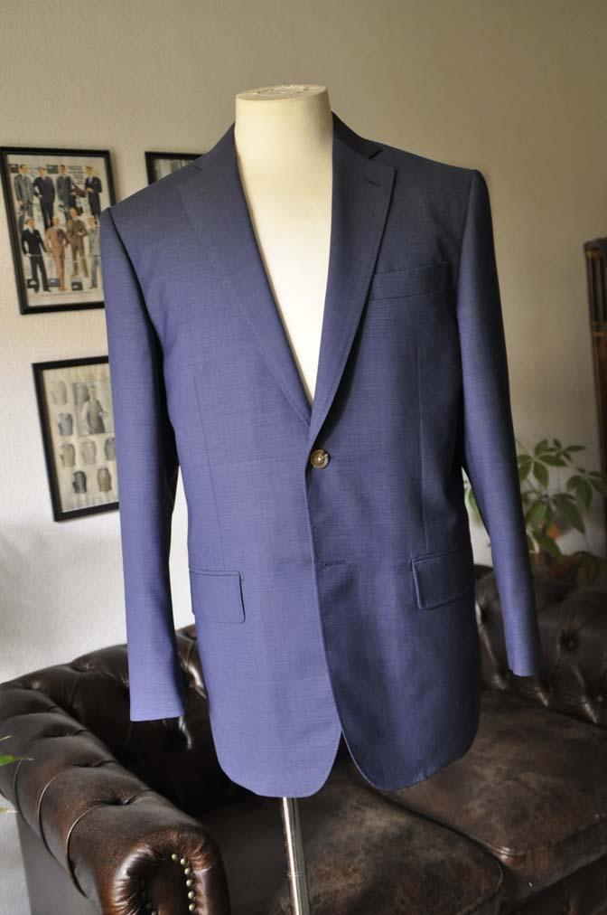 DSC06022 お客様のスーツの紹介-Biellesi ネイビースーツ-