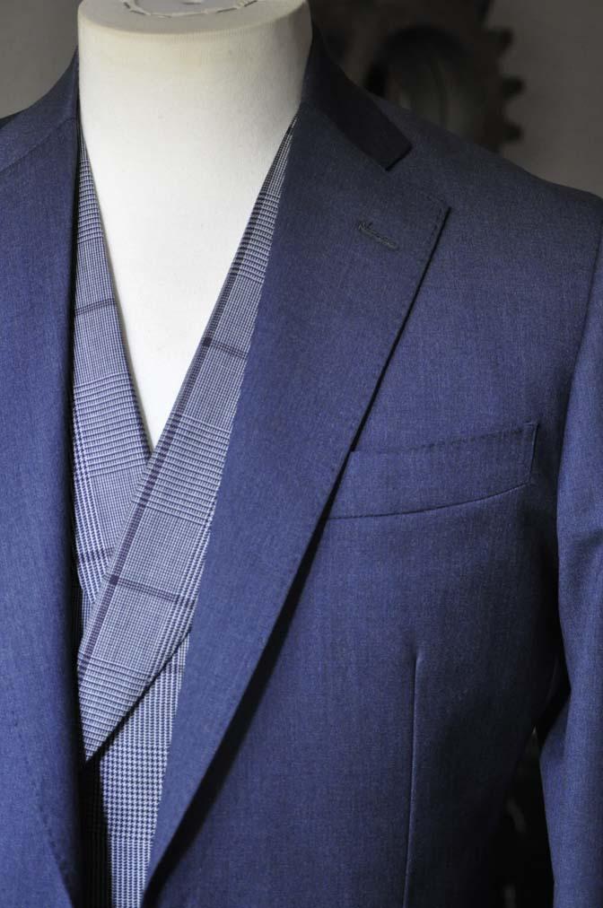 DSC0603-2 お客様のウエディング衣装の紹介-Biellesi ネイビースーツ グレーチェックベスト-