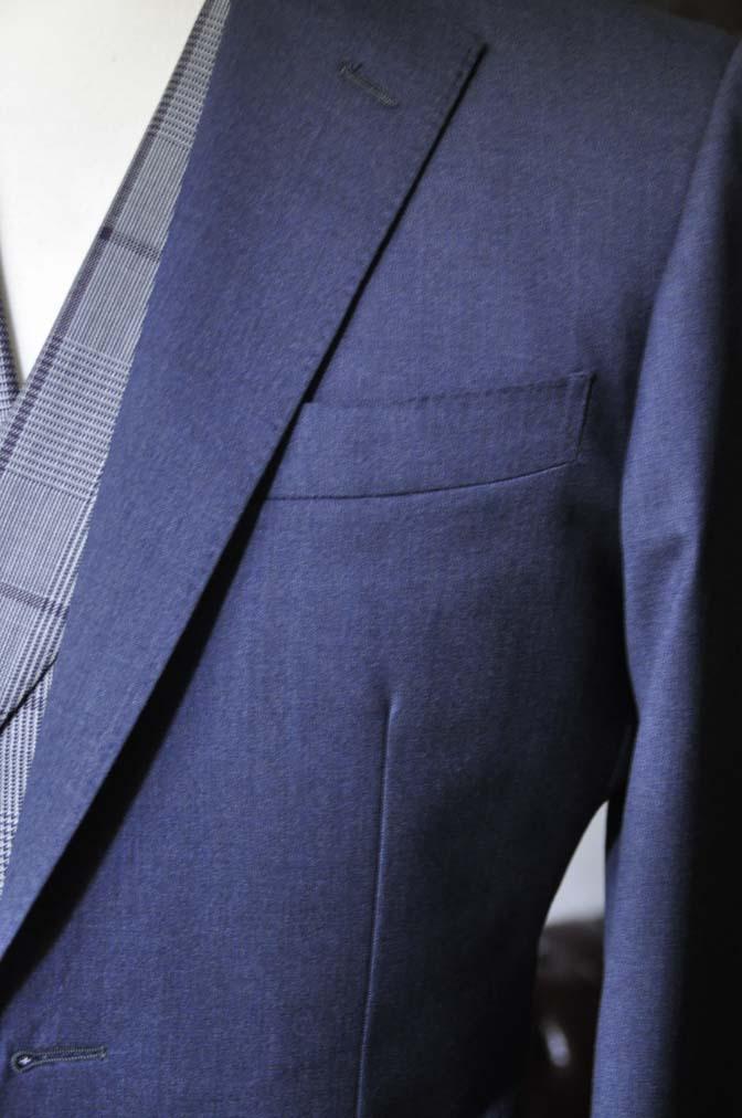 DSC0604-1 お客様のウエディング衣装の紹介-Biellesi ネイビースーツ グレーチェックベスト-