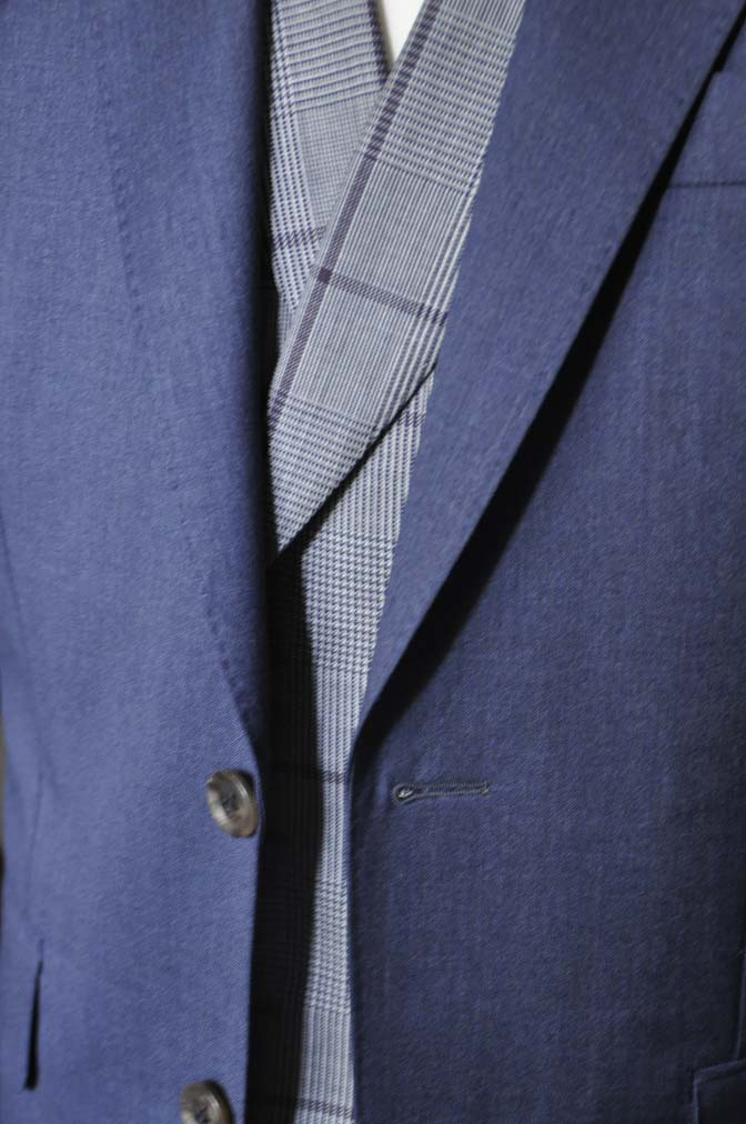 DSC0605-1 お客様のウエディング衣装の紹介-Biellesi ネイビースーツ グレーチェックベスト-