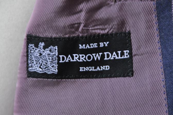 DSC06104 お客様のスーツの紹介-DARROW DALE ネイビーピンクストライプ フランネルスーツ-