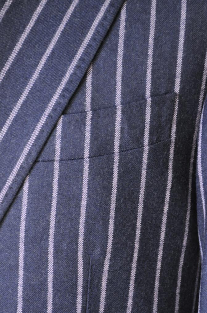 DSC06131 お客様のスーツの紹介-DARROW DALE ネイビーピンクストライプ フランネルスーツ-