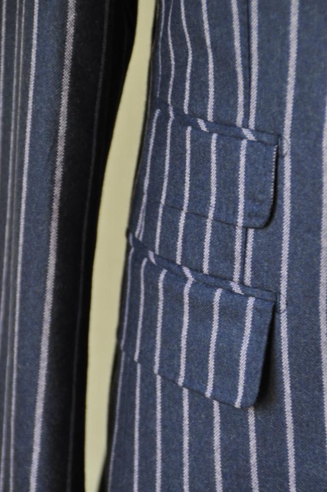 DSC06162 お客様のスーツの紹介-DARROW DALE ネイビーピンクストライプ フランネルスーツ-