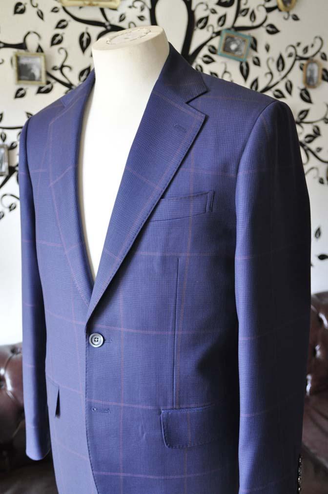DSC0617-3 お客様のスーツの紹介-Biellesiネイビーチェックスーツ-