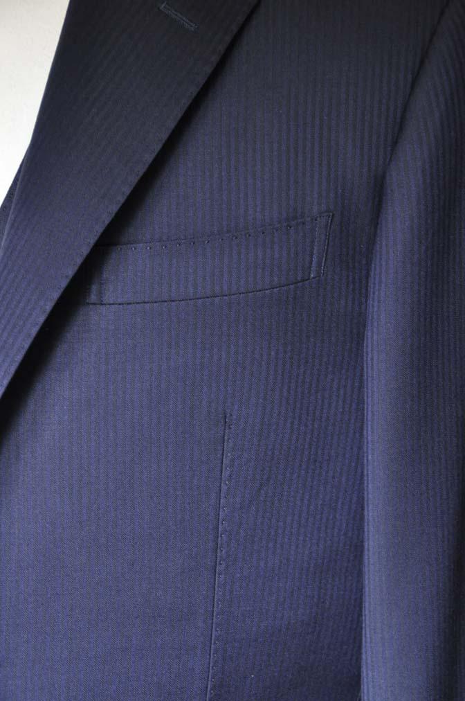 DSC0618-1 お客様のスーツの紹介- Biellesi ネイビーヘリンボーン スリーピース-