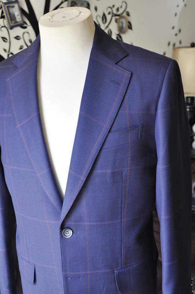 DSC0618-5 お客様のスーツの紹介-Biellesiネイビーチェックスーツ-