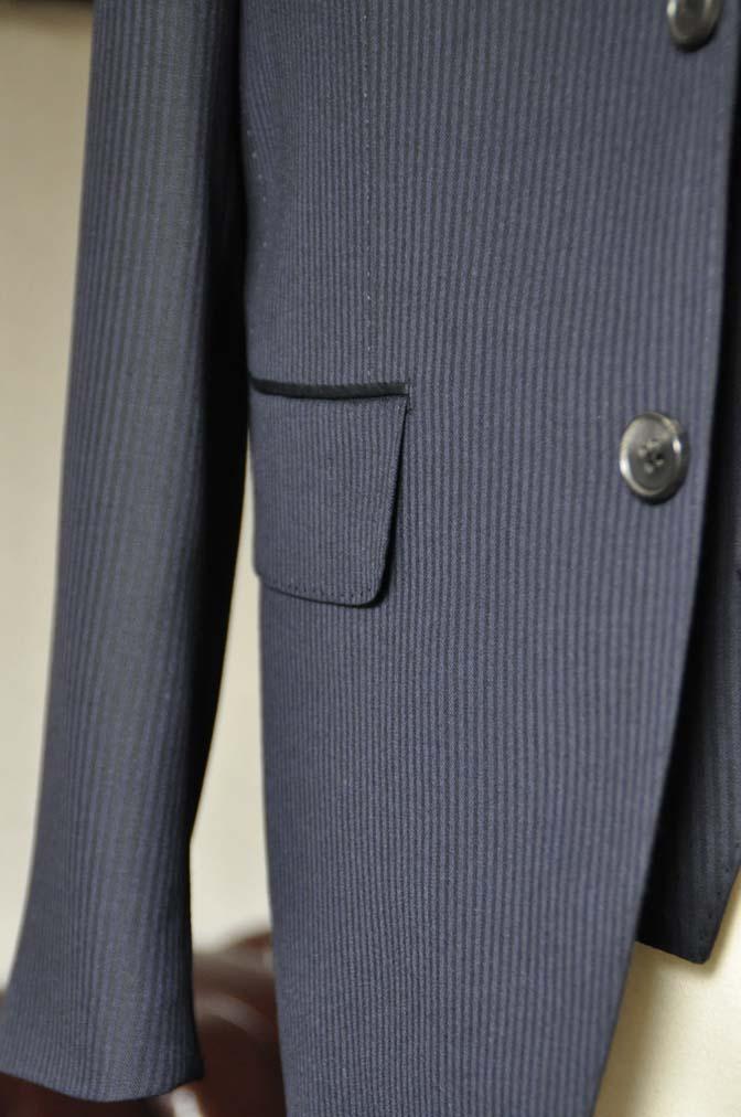 DSC0620-1 お客様のスーツの紹介- Biellesi ネイビーヘリンボーン スリーピース-