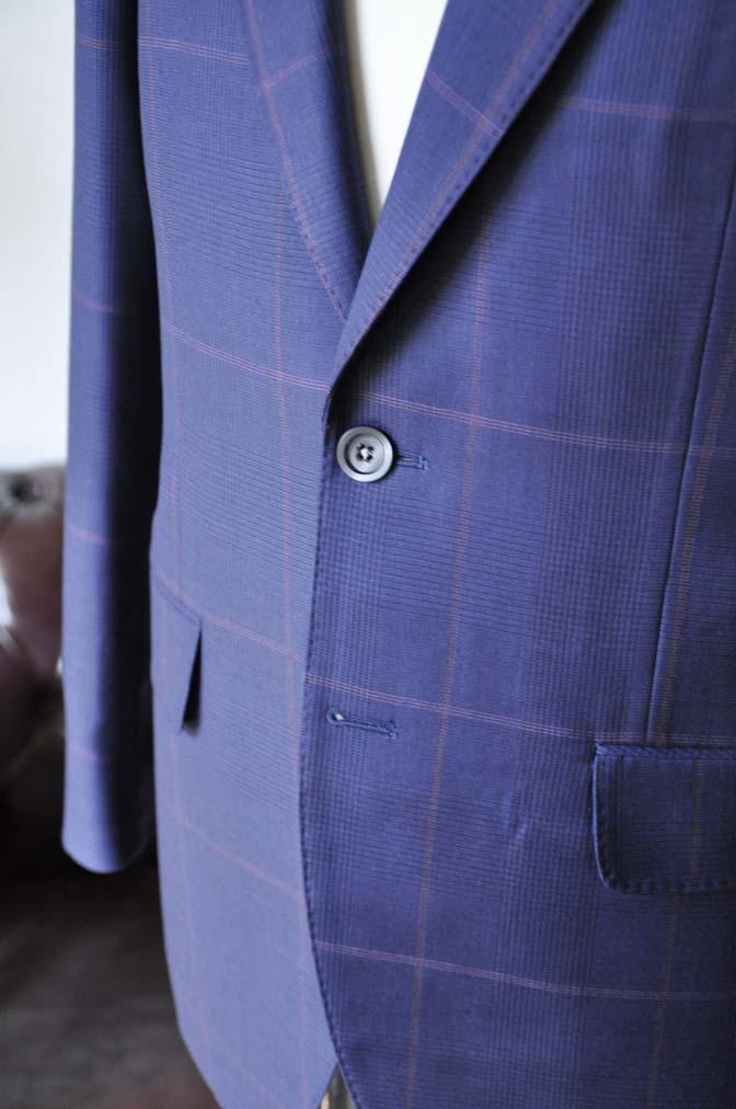 DSC0620-3 お客様のスーツの紹介-Biellesiネイビーチェックスーツ-