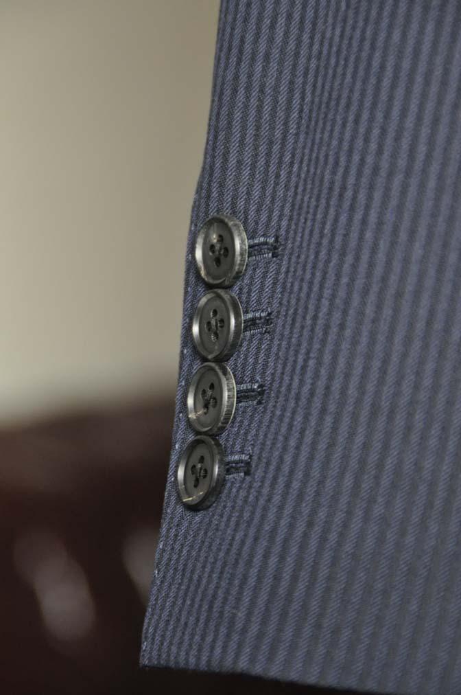 DSC0621-1 お客様のスーツの紹介- Biellesi ネイビーヘリンボーン スリーピース-